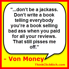 Von Money Quote Fake Kindle Reviews