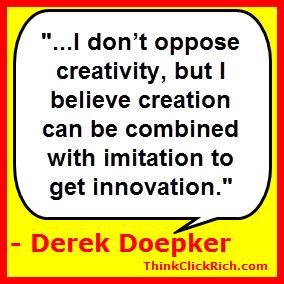 Derek Doepker Creativity & Innovation Quote