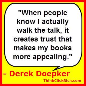 Derek Doepker Walk the Talk Quote