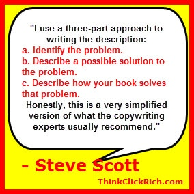 Steve Scott Amazon Description