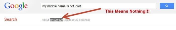 Ignore the Google estimated results