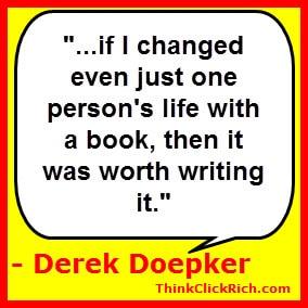 Derek Doepker Change Lives Quote