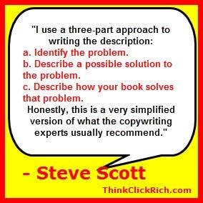 Steve Scott Amazon Description