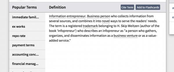 Infopreneur definition