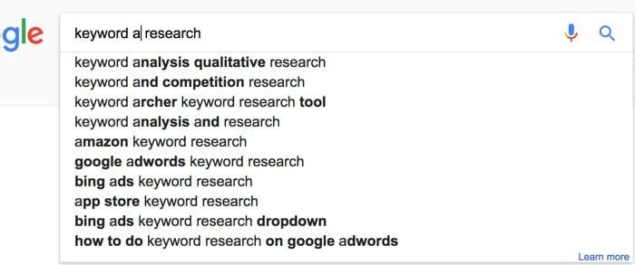 google autocomplete generator